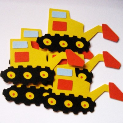 NEW Bulldozer Paper Die Cuts_p6
